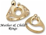 Mother's rings in 14k yellow gold- special order items.